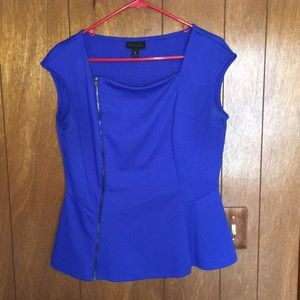 Women's blue Peplum top